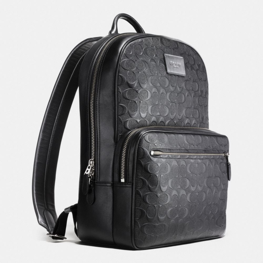 Hudson Backpack in Signature Crossgrain Leather - Alternate View A2