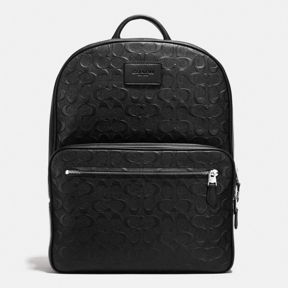 Hudson Backpack in Signature Crossgrain Leather