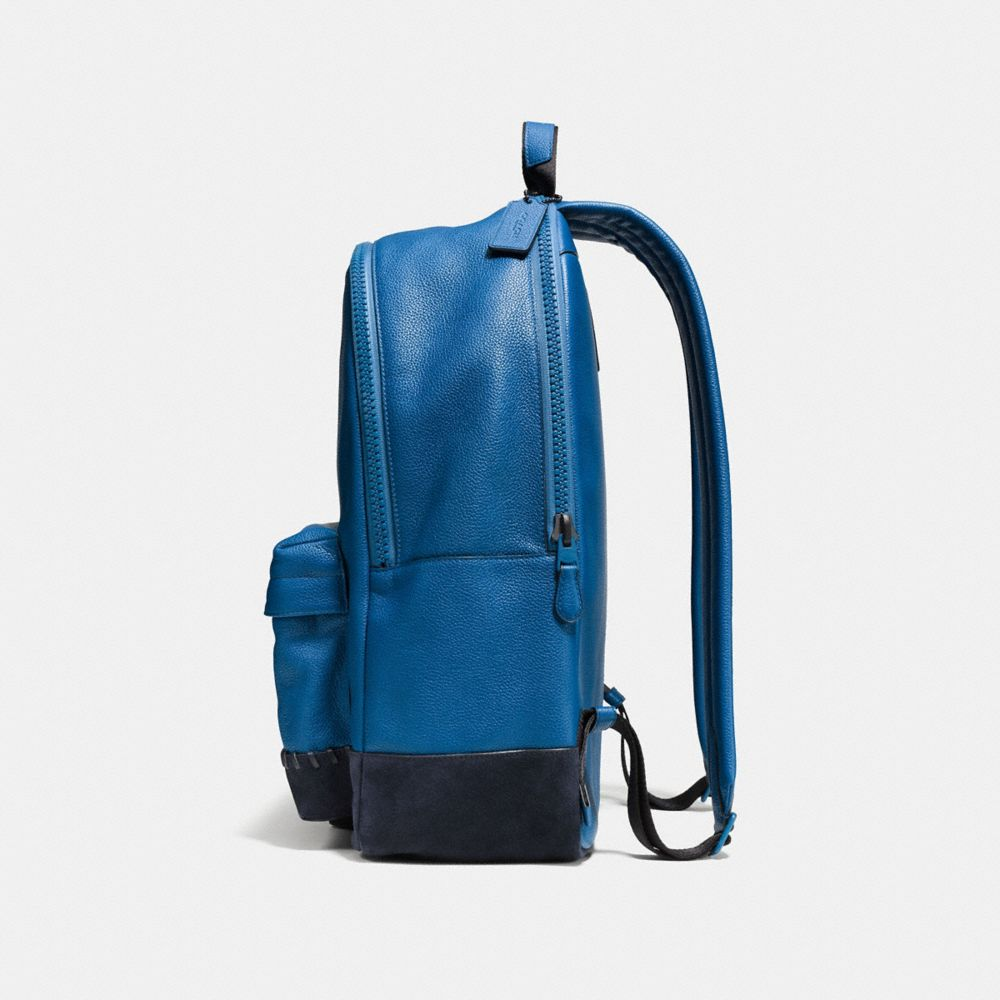 Modern Varsity Campus Backpack in Pebble Leather - Alternate View A1