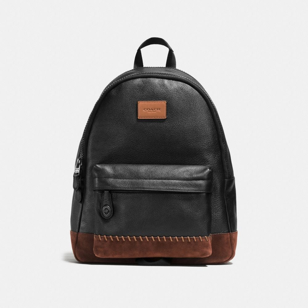 Modern Varsity Campus Backpack in Pebble Leather