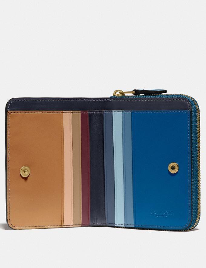 Coach Billfold Wallet in Colorblock Brass/Dark Denim Multi Women Wallets & Wristlets Small Wallets Alternate View 2