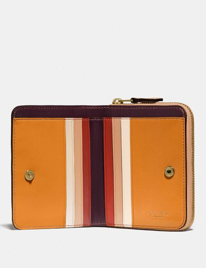 Coach Billfold Wallet in Colorblock Brass/Natural Multi New Women's New Arrivals Small Leather Goods Alternate View 1