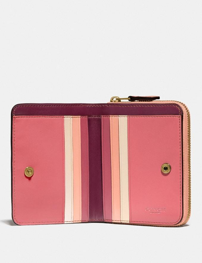 Coach Billfold Wallet in Colorblock B4/Faded Blush Multi New Women's New Arrivals Small Leather Goods Alternate View 1