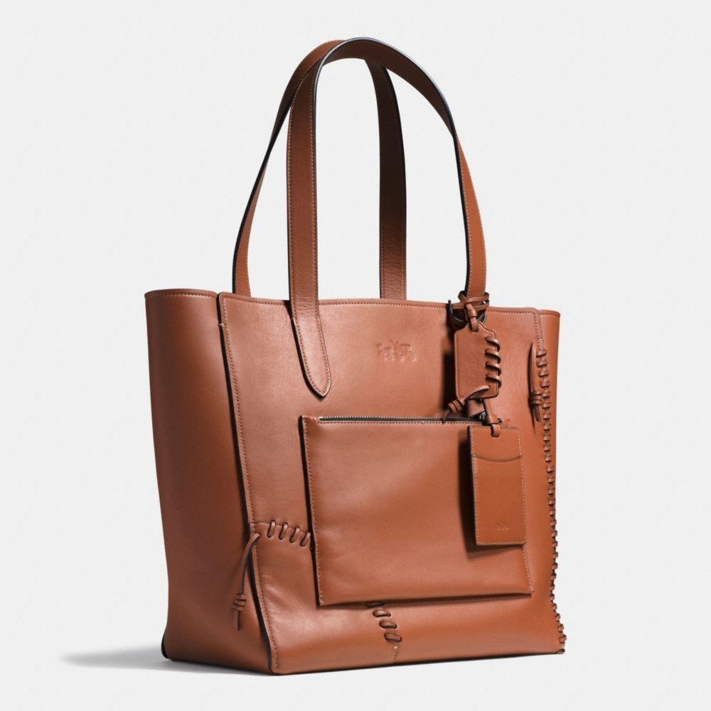 Rip and Repair Manhattan Tote in Leather - Alternate View A2