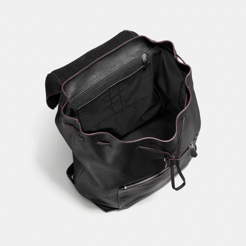 Large Manhattan Backpack in Pebble Leather - Alternate View A3