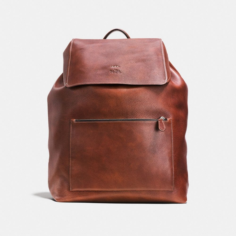 Large Manhattan Backpack in Pebble Leather