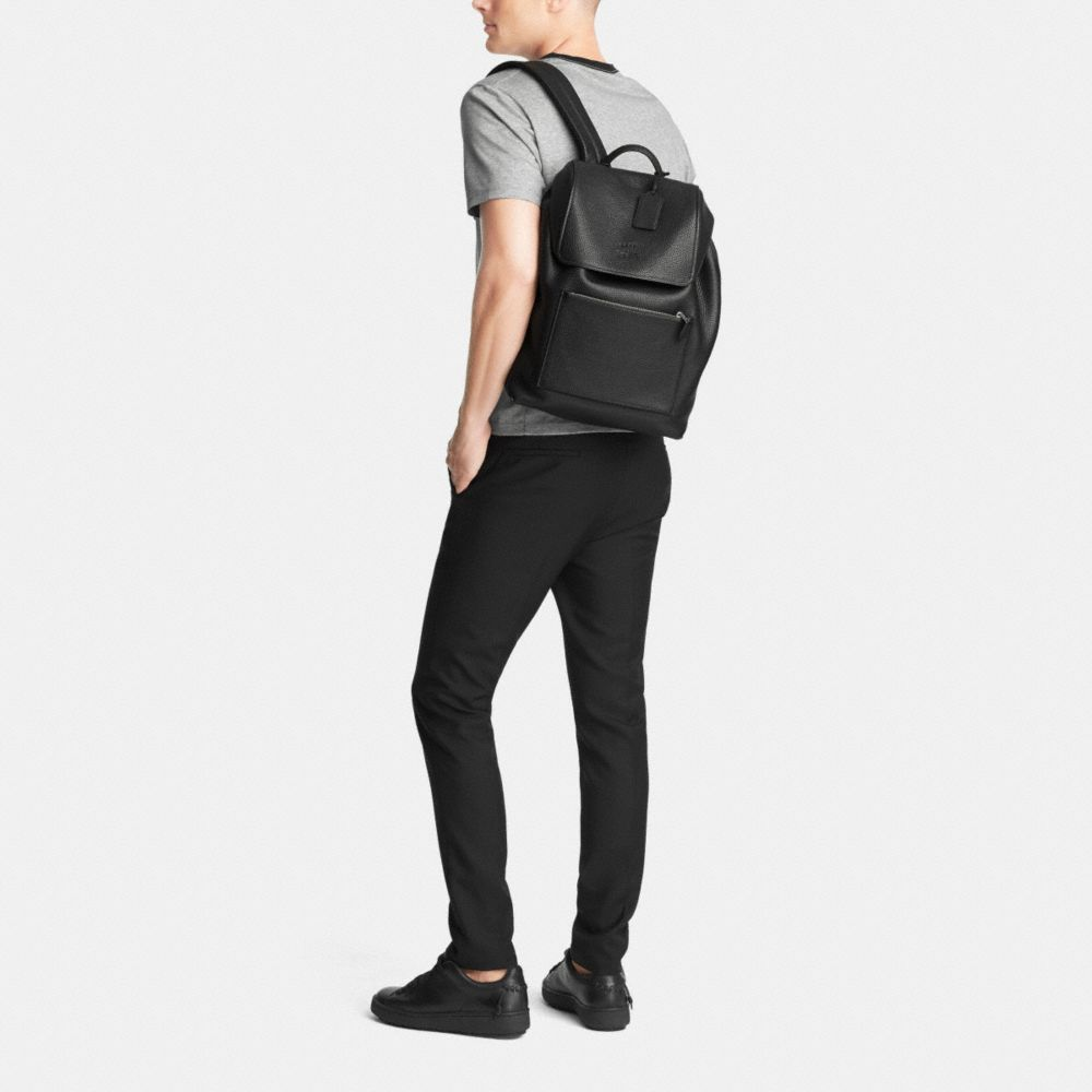 Manhattan Backpack in Pebble Leather - Alternate View M1