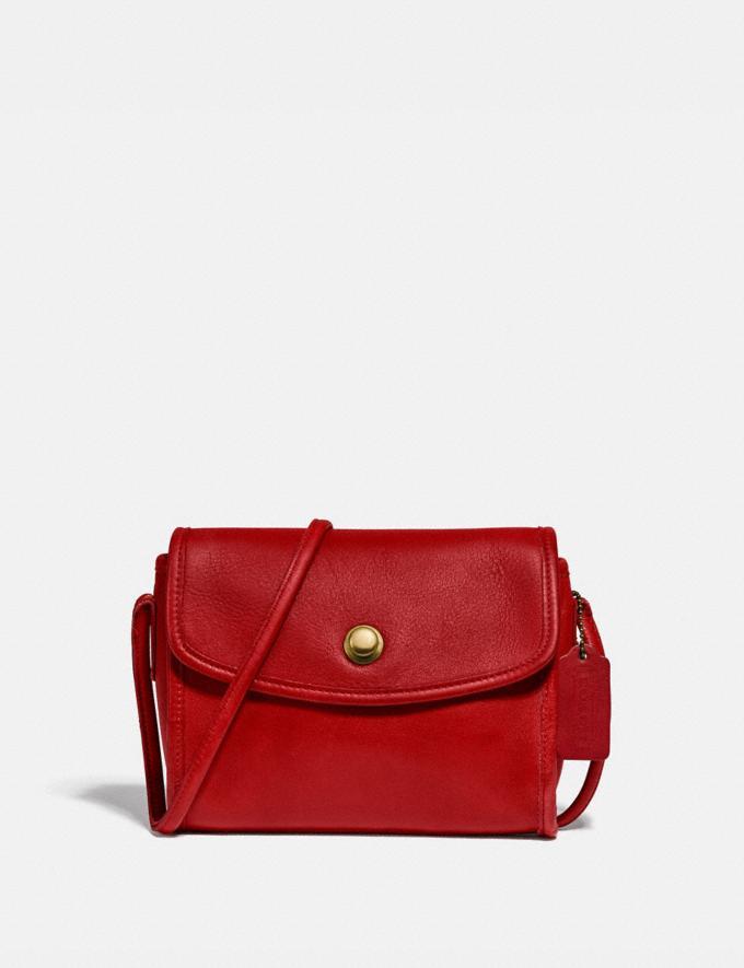 Coach Restored Chrystie Bag Brass/Red
