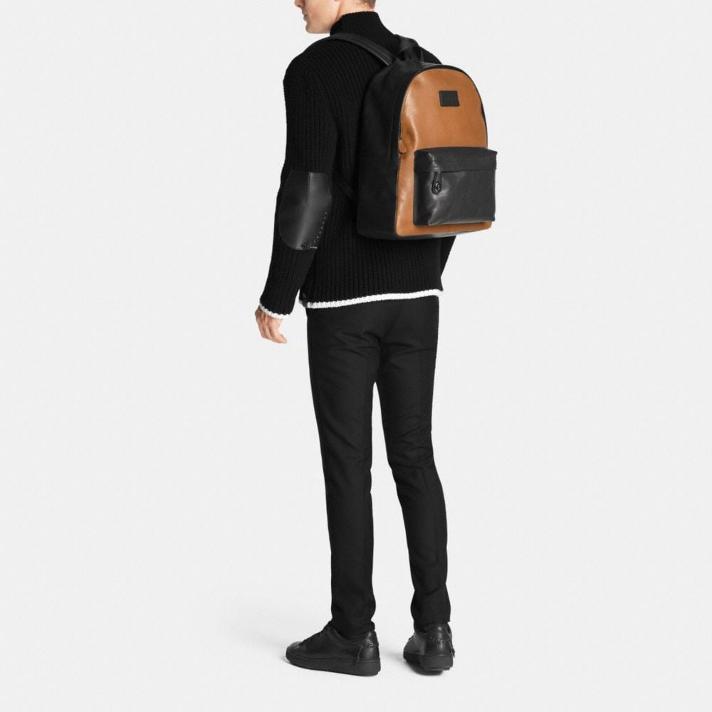 CAMPUS BACKPACK IN SPORT CALF LEATHER - Alternate View M1