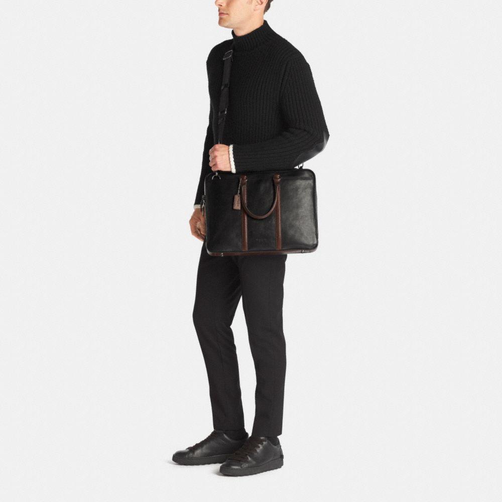 Metropolitan Slim Brief in Sport Calf Leather - Alternate View M1