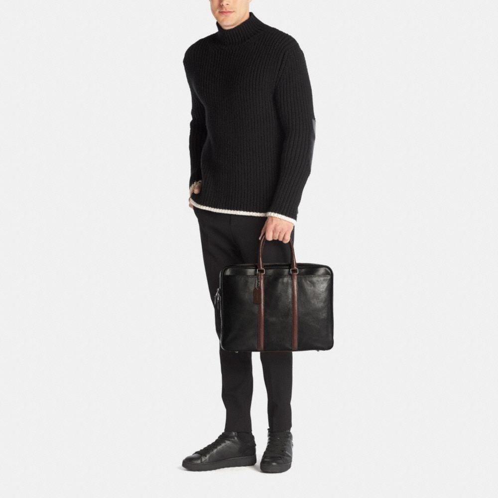 Metropolitan Slim Brief in Sport Calf Leather - Alternate View M2