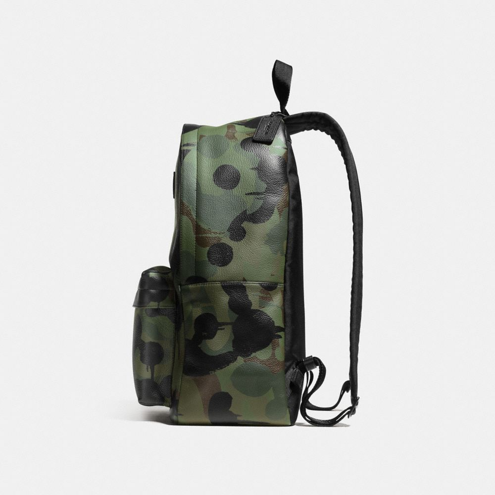 Coach Campus Backpack in Printed Pebble Leather Alternate View 1