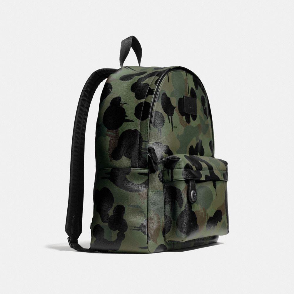 Coach Campus Backpack in Printed Pebble Leather Alternate View 2