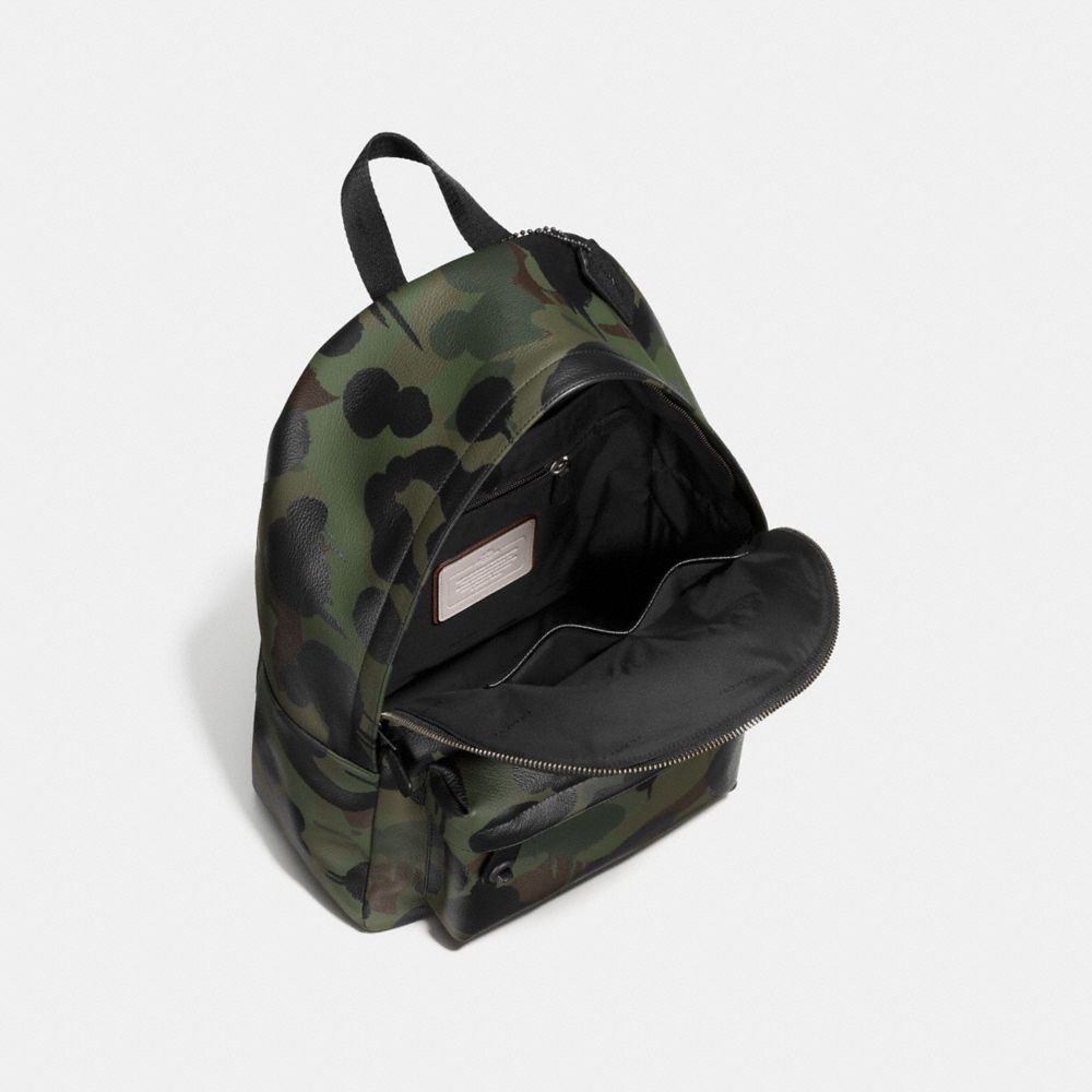 Coach Campus Backpack in Printed Pebble Leather Alternate View 3