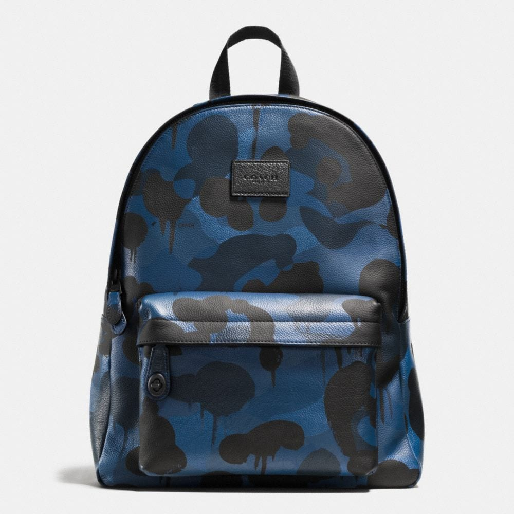CAMPUS BACKPACK IN PRINTED PEBBLE LEATHER