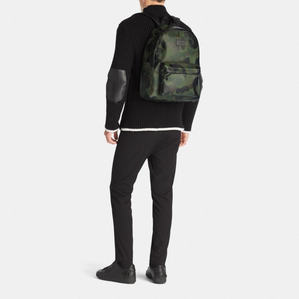 Coach Campus Backpack in Printed Pebble Leather Alternate View 4