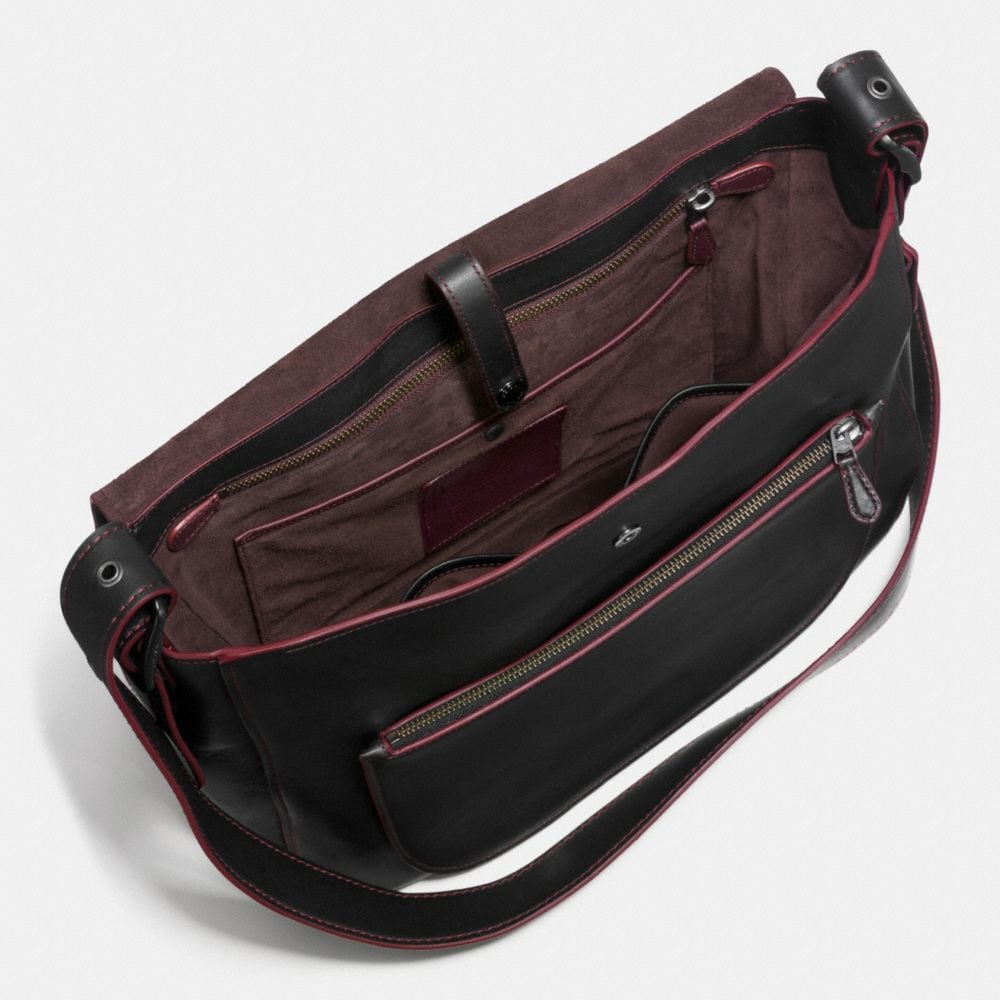 Saddle Bag Messenger 38 in Glovetanned Leather - Alternate View A1