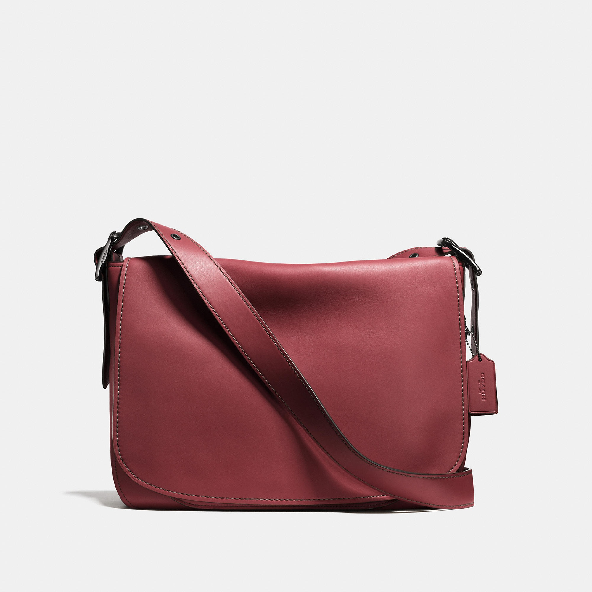 Coach Saddle Bag Messenger 38 In Glovetanned Leather