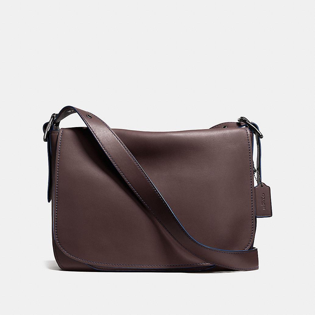 saddle bag messenger 38 in glovetanned leather