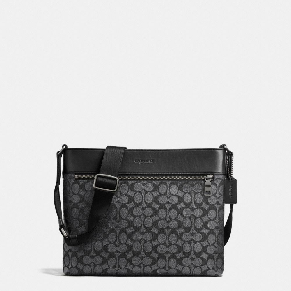 SAM CROSSBODY IN SIGNATURE COATED CANVAS