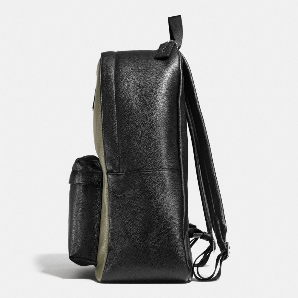 CAMPUS BACKPACK IN COLORBLOCK REFINED PEBBLE LEATHER - Alternate View A1