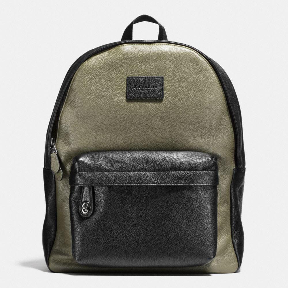 CAMPUS BACKPACK IN COLORBLOCK REFINED PEBBLE LEATHER