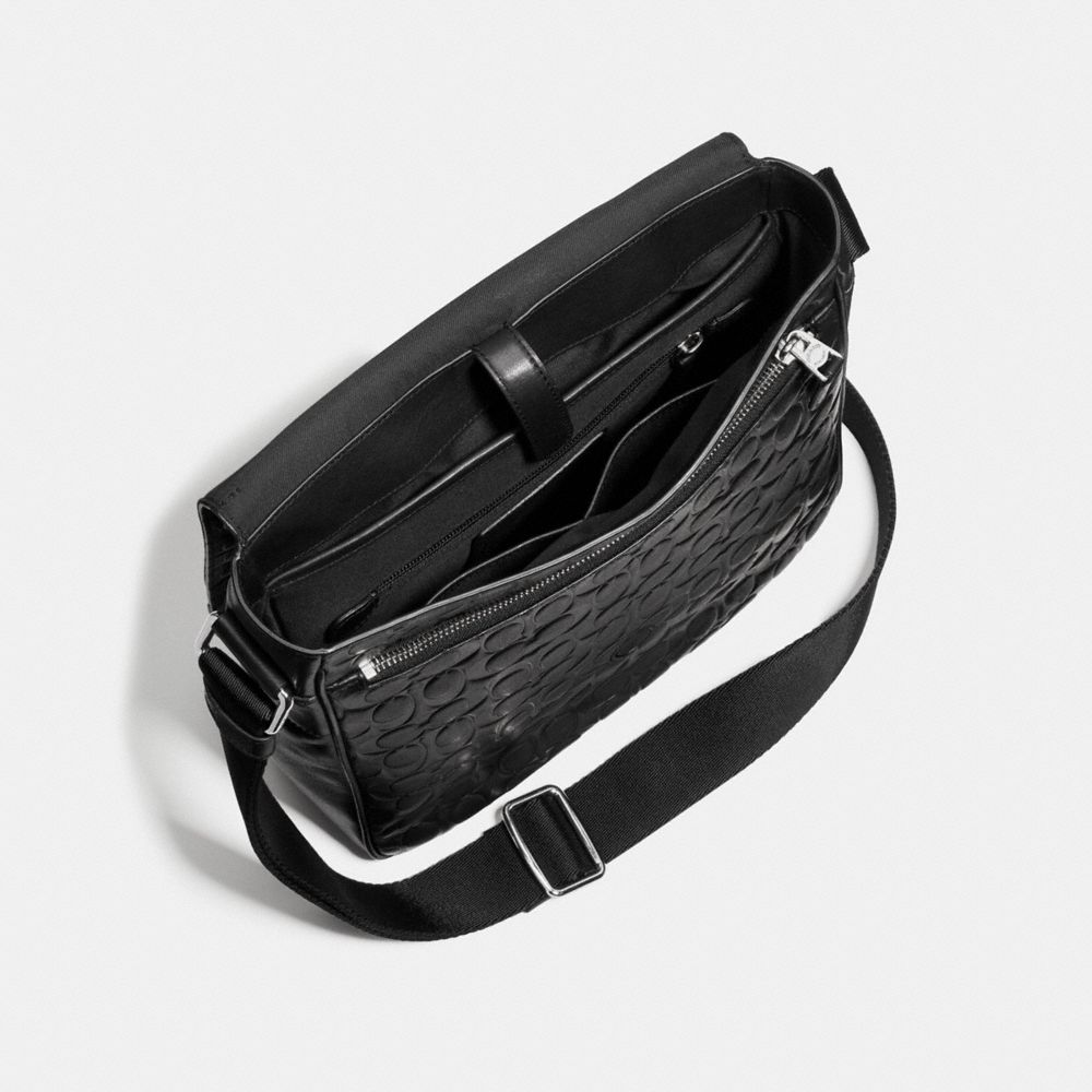Coach Metropolitan Map Bag in Signature Leather Alternate View 3