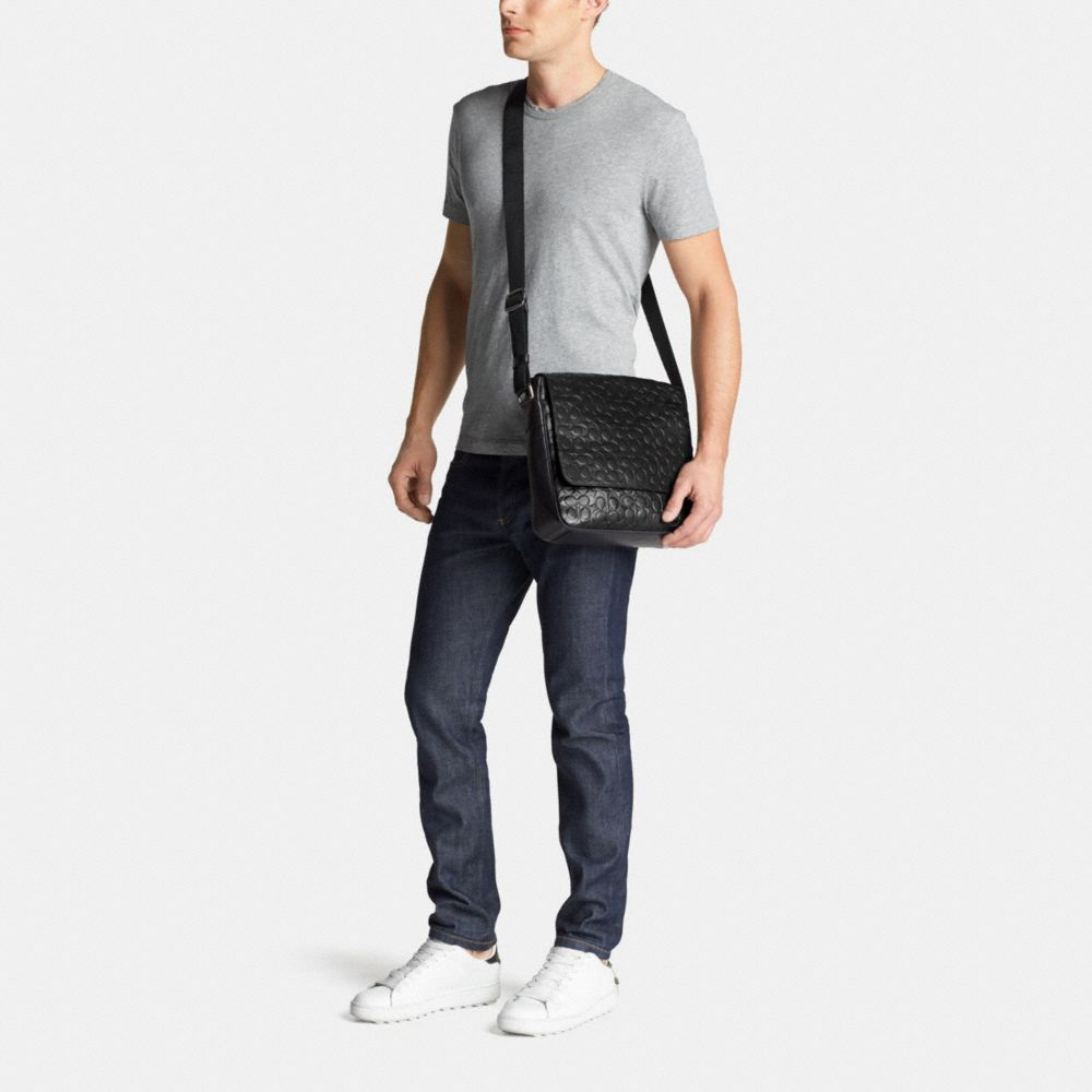 Coach Metropolitan Map Bag in Signature Leather Alternate View 4