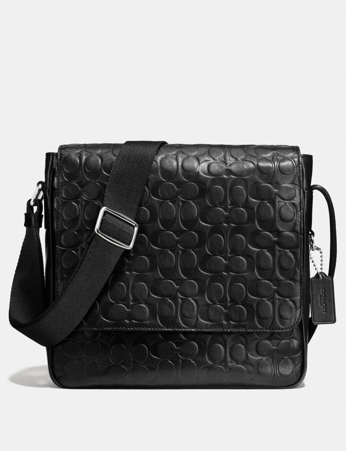 Coach Metropolitan Map Bag in Signature Leather Black/Silver Personalise Personalise It Monogram For Him