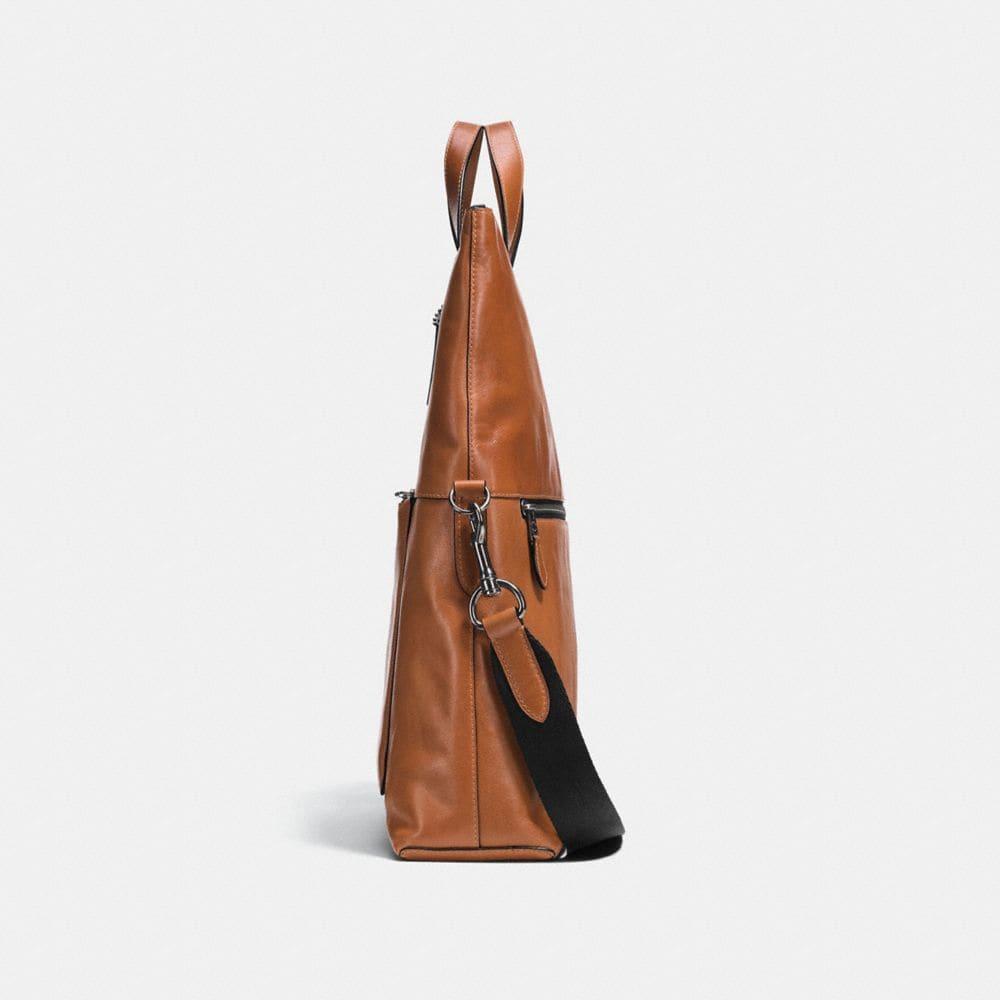 Manhattan Foldover Tote in Sport Calf Leather - Alternate View A1