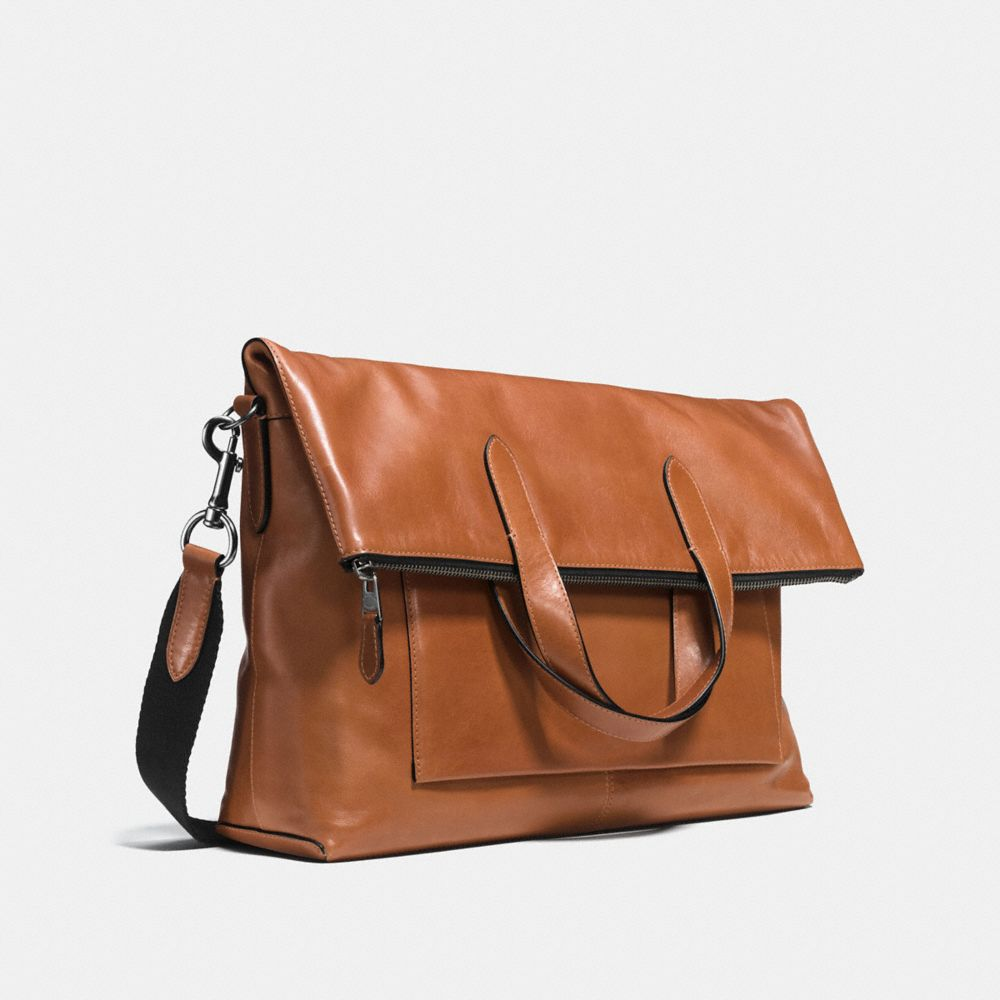 MANHATTAN FOLDOVER TOTE IN SPORT CALF LEATHER - Autres affichages A2