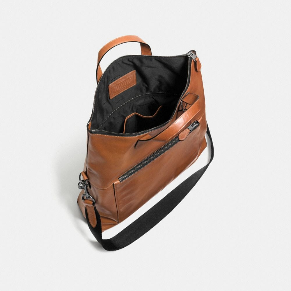 Manhattan Foldover Tote in Sport Calf Leather - Alternate View A3