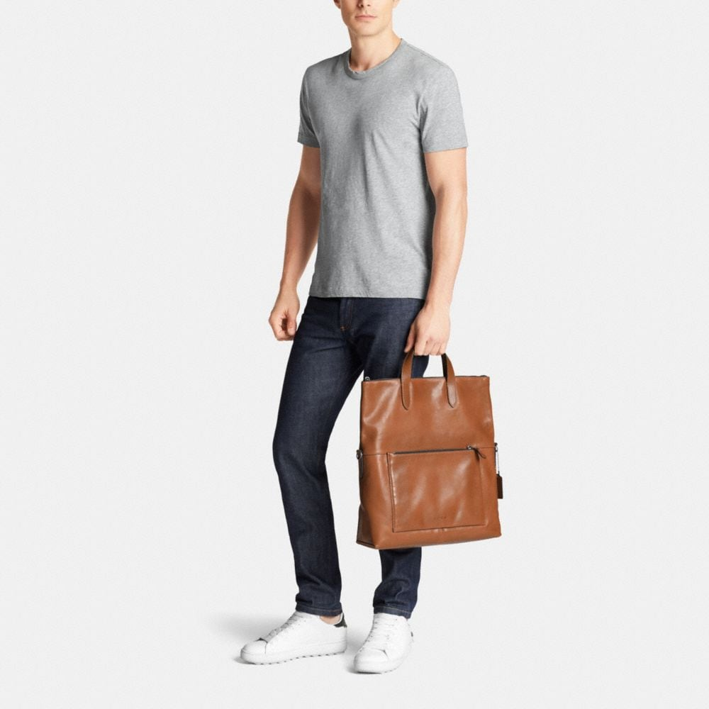 MANHATTAN FOLDOVER TOTE IN SPORT CALF LEATHER - Autres affichages M2