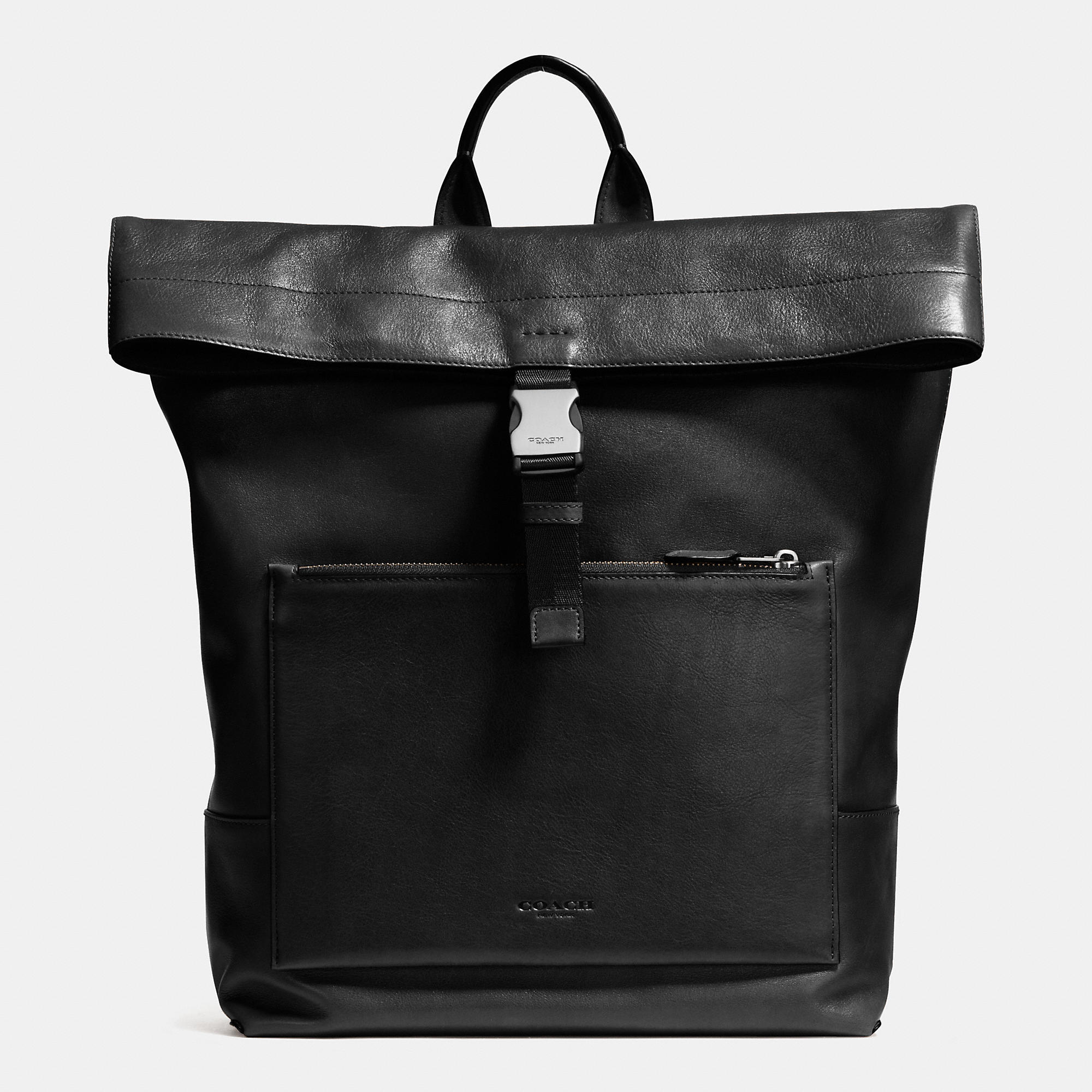 Coach Manhattan Foldover Backpack In Sport Calf Leather