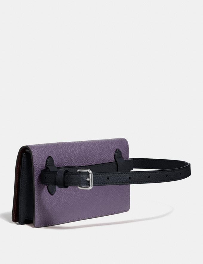 Coach Convertible Belt Bag in Colorblock Dusty Lavender Multi/Silver Gifts For Her Alternate View 1