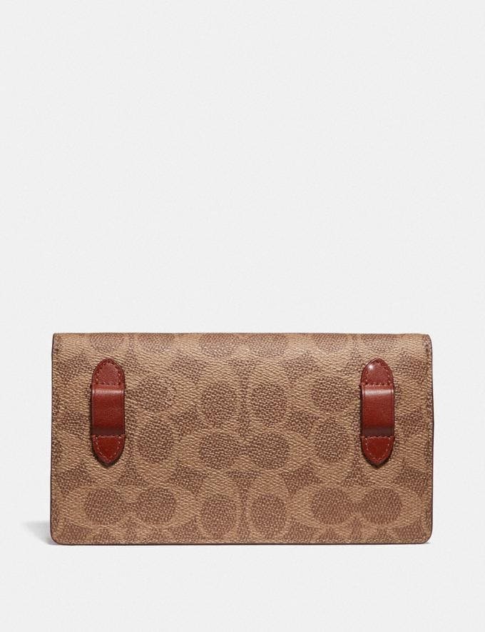 Coach Convertible Belt Bag in Colorblock Signature Canvas Tan/Rust/Brass Women Bags Belt Bags Alternate View 2