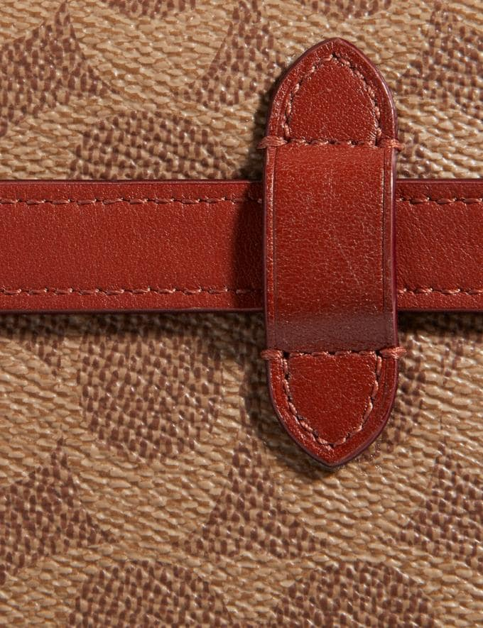 Coach Convertible Belt Bag in Colorblock Signature Canvas Tan/Rust/Brass Women Bags Belt Bags Alternate View 6