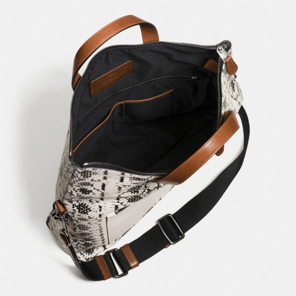 Manhattan Foldover Tote in Printed Sport Calf Leather - Autres affichages A3