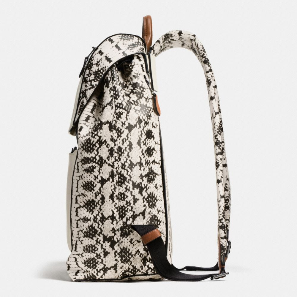 MANHATTAN BACKPACK IN PRINTED SPORT CALF LEATHER - Alternate View A1