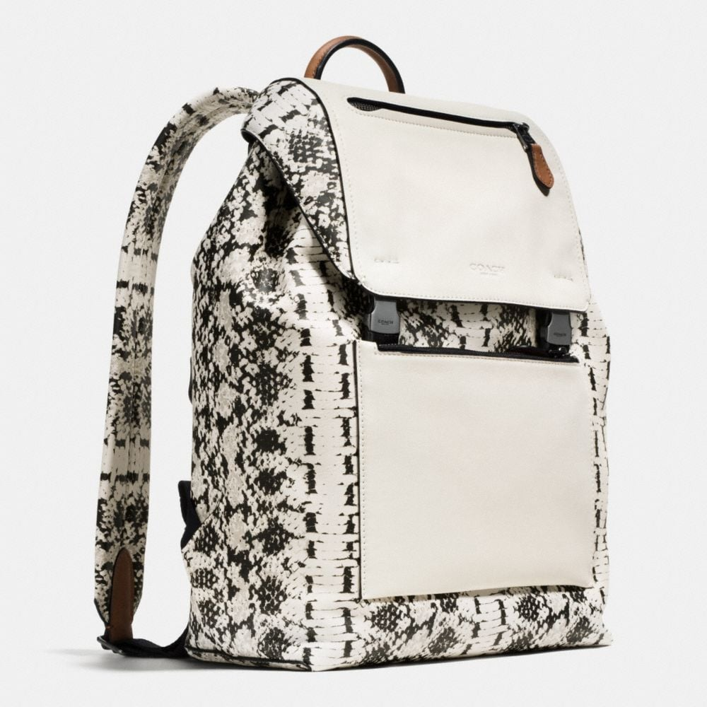 Manhattan Backpack in Printed Sport Calf Leather - Alternate View A2