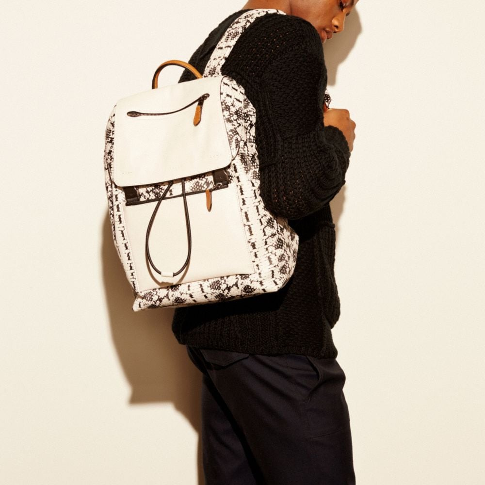 Manhattan Backpack in Printed Sport Calf Leather - Alternate View A4