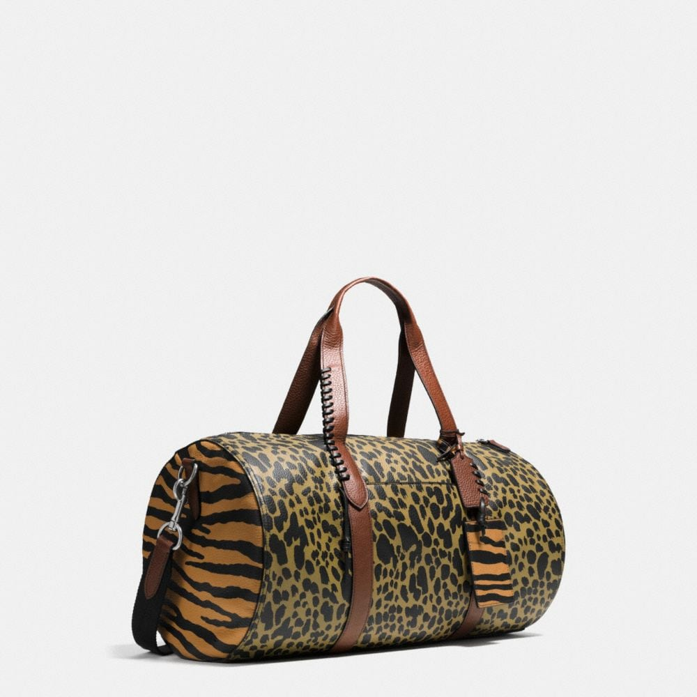 Large Gym Bag in Printed Pebble Leather - Alternate View A2