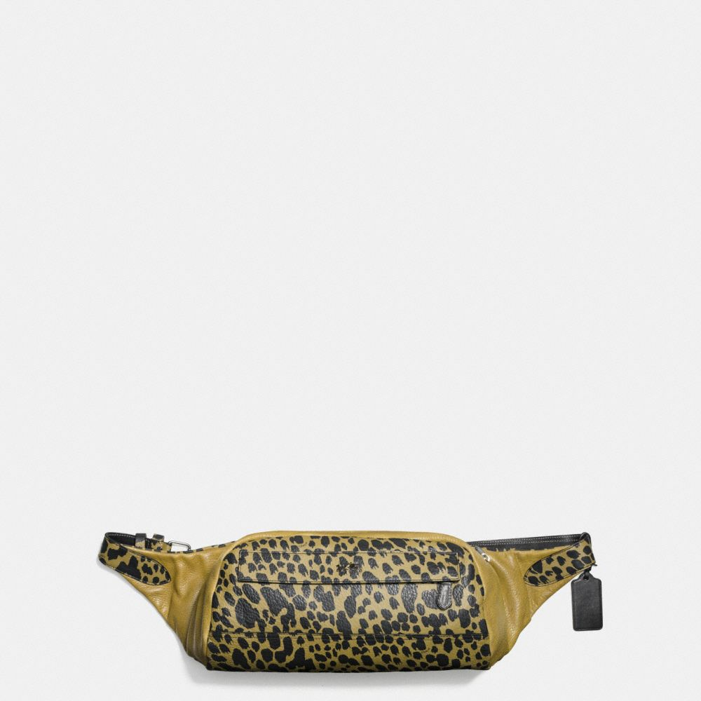 Small Hip Bag in Printed Pebble Leather