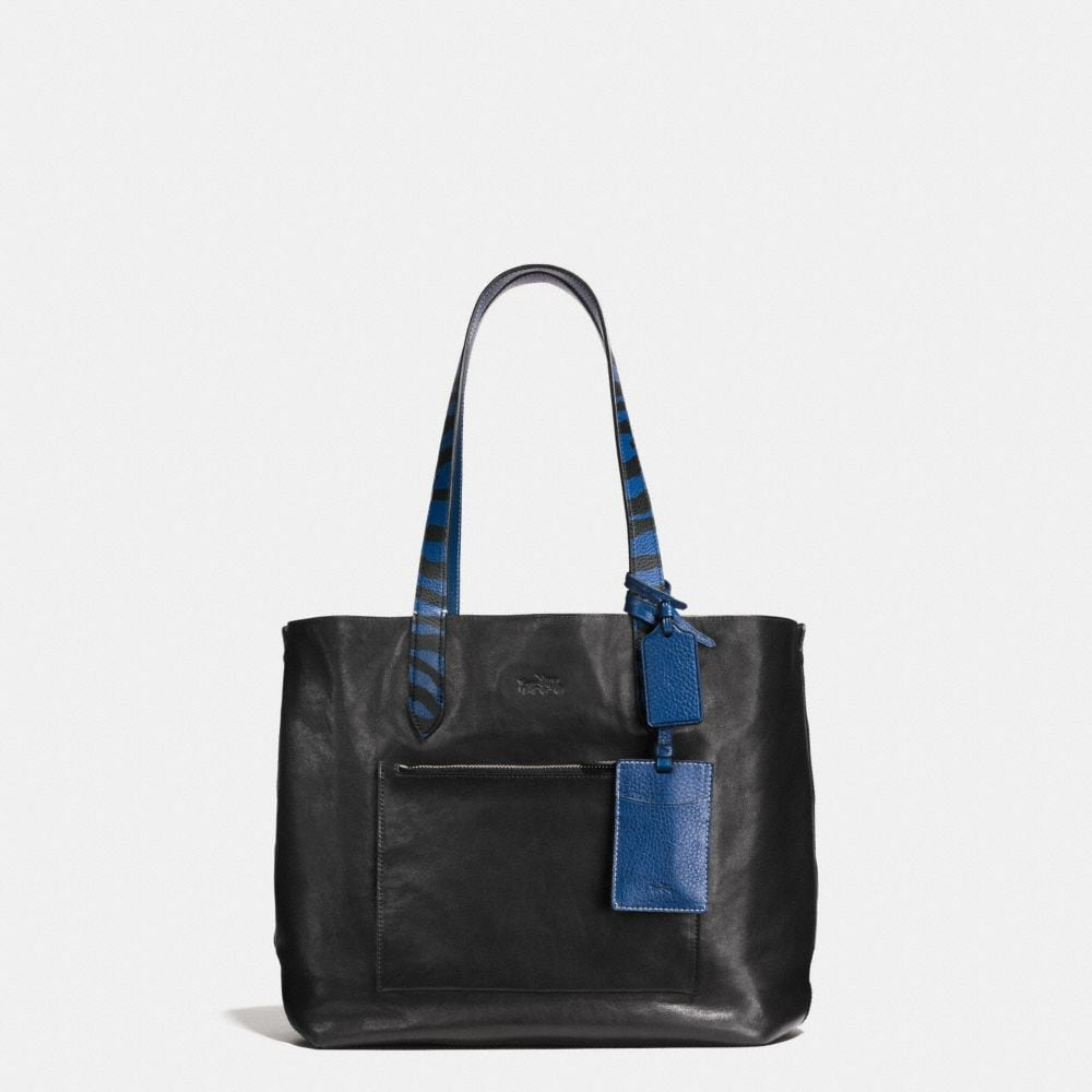 SMALL REVERSIBLE TOTE IN PEBBLE LEATHER