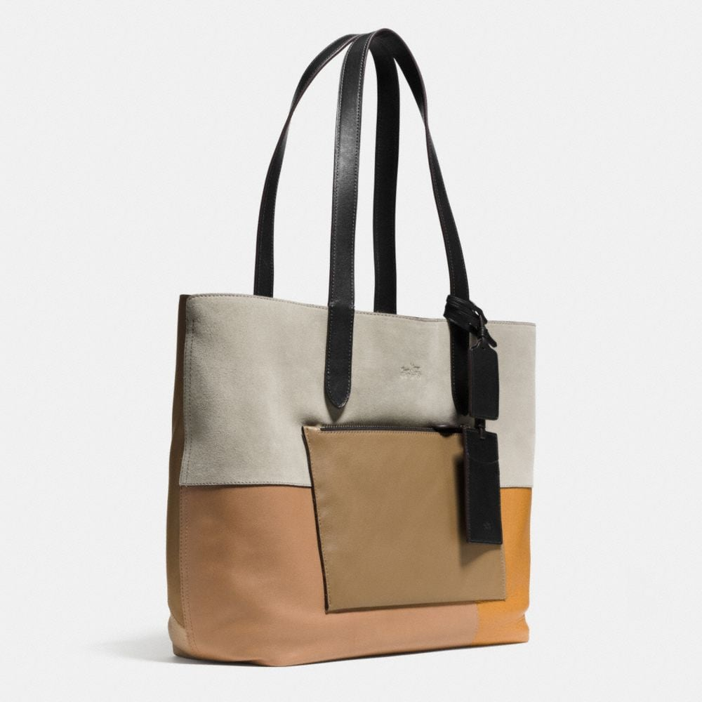 Small Tote in Patchwork Leather - Alternate View A2