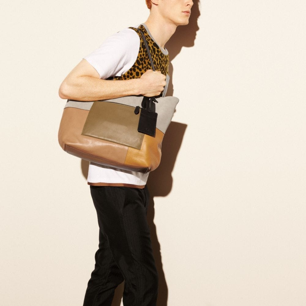 Small Tote in Patchwork Leather - Alternate View A4