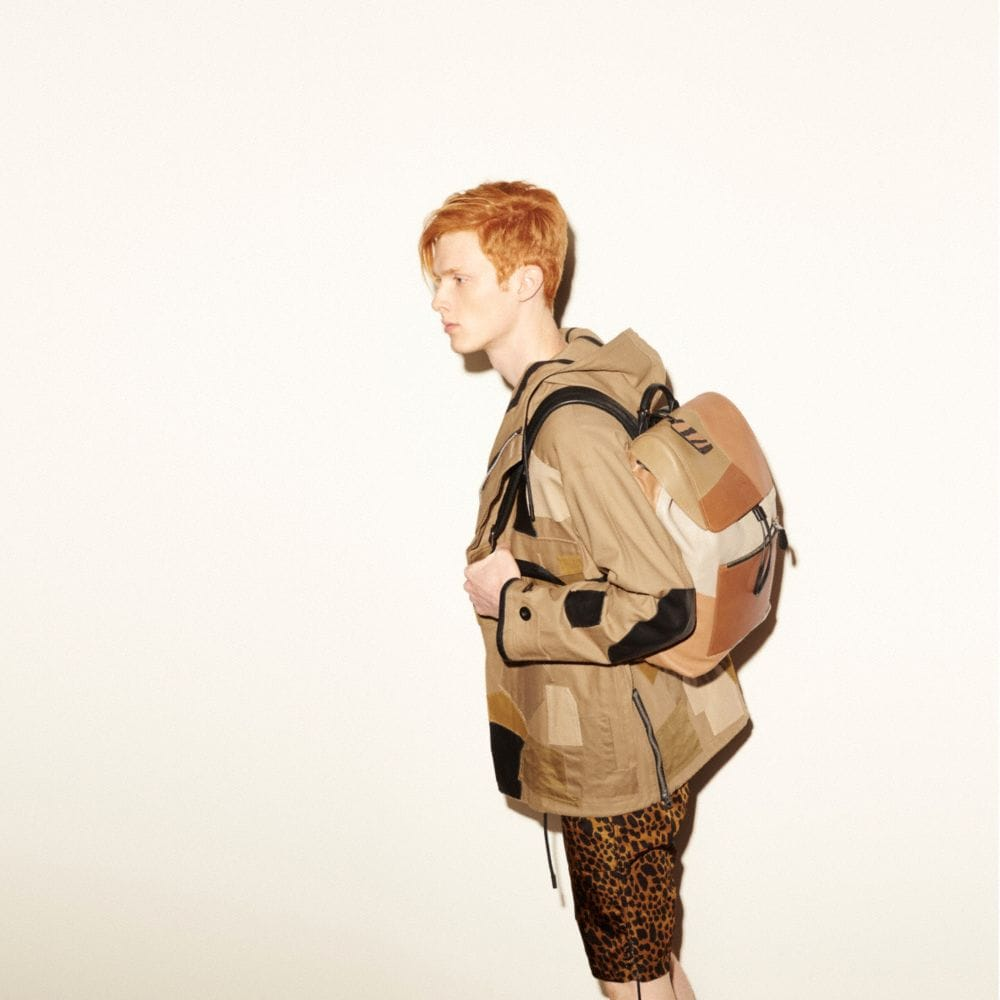 Small Rucksack in Patchwork Leather - Alternate View A4