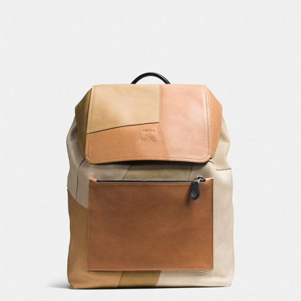 SMALL RUCKSACK IN PATCHWORK LEATHER