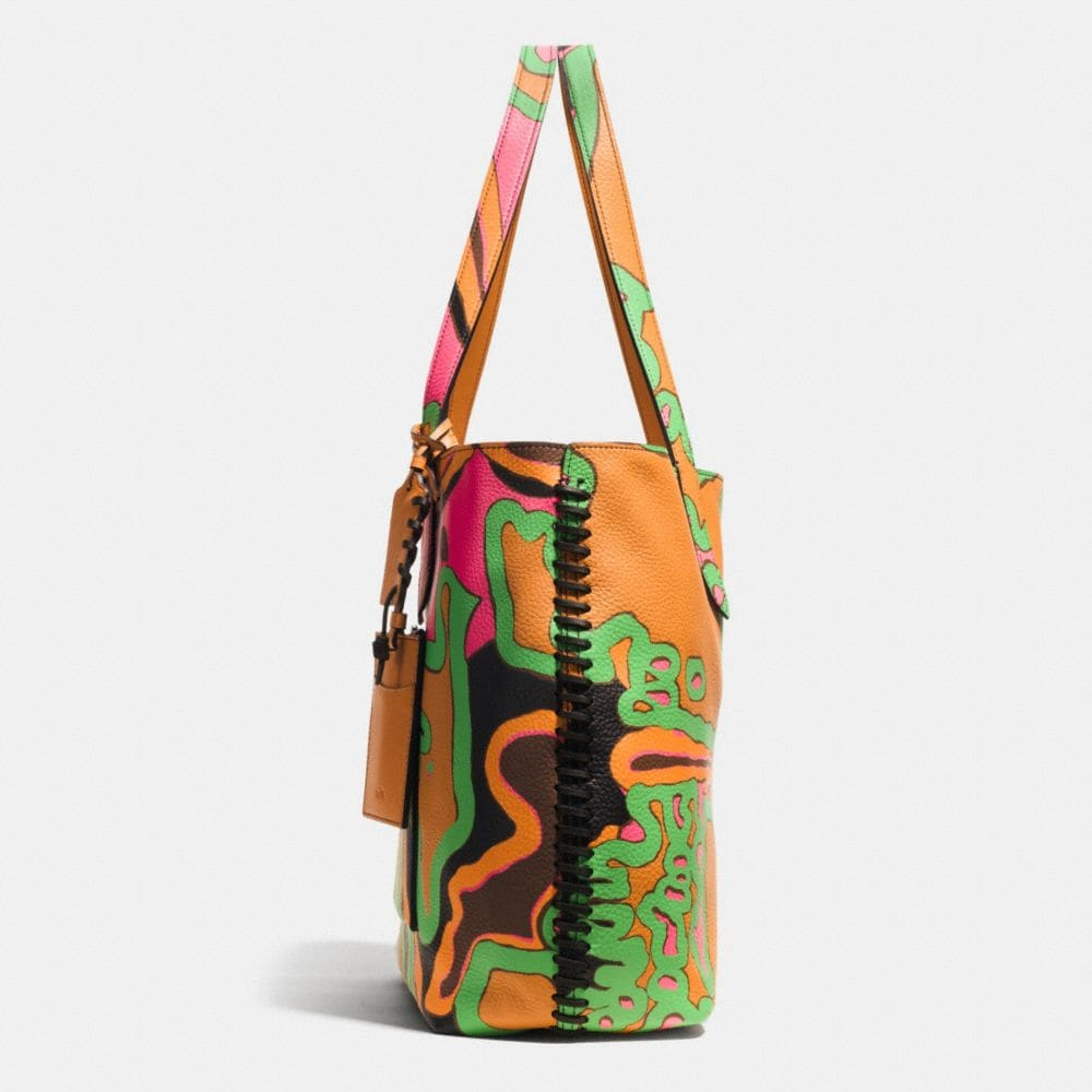 RIP AND REPAIR SMALL REVERSIBLE TOTE IN SPORT CALF LEATHER - Autres affichages A1