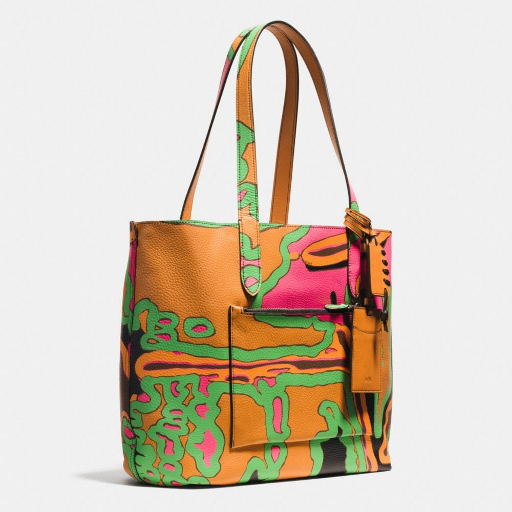 RIP AND REPAIR SMALL REVERSIBLE TOTE IN SPORT CALF LEATHER - Autres affichages A2